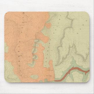 Mapa de la mitad del sur de la meseta de Uinkaret Mousepad