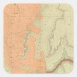Mapa de la mitad del sur de la meseta de Uinkaret Calcomanías Cuadradases
