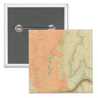 Mapa de la mitad del sur de la meseta de Uinkaret Pin Cuadrado