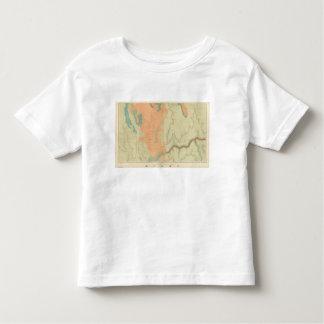 Mapa de la mitad del sur de la meseta de Uinkaret Playera De Bebé