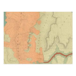 Mapa de la mitad del sur de la meseta de Uinkaret Postal