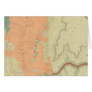 Mapa de la mitad del sur de la meseta de Uinkaret Tarjeta De Felicitación