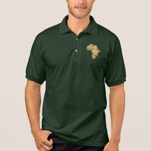 Mapa de la moda patriótica de ÁFRICA Camisetas