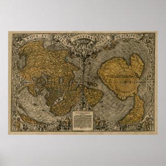 Mapa de la multa 1531 de Oronce Poster