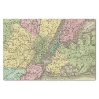 Mapa de la Nueva York Papel De Seda Pequeño
