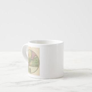 Mapa de la Nueva York Taza Espresso
