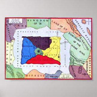 Mapa de la onza poster