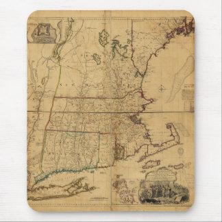 Mapa de la parte habitada de Nueva Inglaterra 1755 Tapete De Ratón
