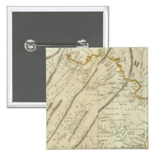 Mapa de la parte habitada de Virginia, NJ. PA Pins