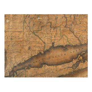 Mapa de la parte meridional del estado de Nueva Yo Postales
