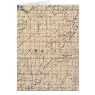 Mapa de la parte norteña del condado de Chippewa Felicitaciones