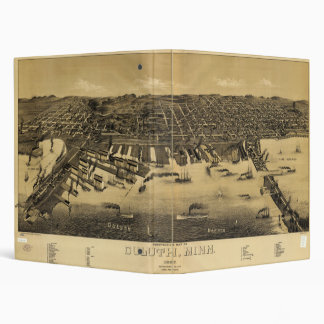 """Mapa de la perspectiva de Duluth Minnesota (1887) Carpeta 1"""""""