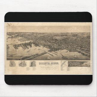 Mapa de la perspectiva de Duluth Minnesota (1893) Alfombrilla De Ratón