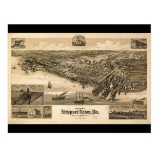 Mapa de la perspectiva de las noticias Virginia Postal