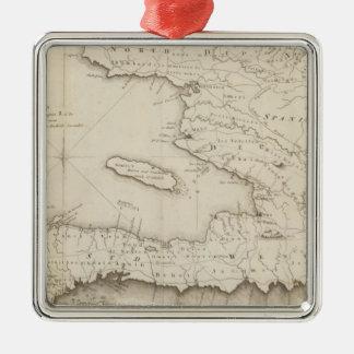 Mapa de la pieza francesa de St Domingo Ornamentos De Reyes Magos