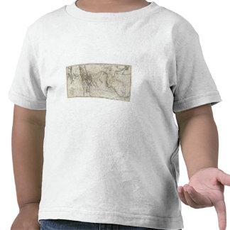 Mapa de la pista 2 de Lewis y de Clark Camiseta
