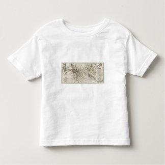 Mapa de la pista 2 de Lewis y de Clark T-shirts