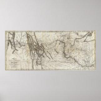 Mapa de la pista 2 de Lewis y de Clark Póster