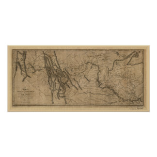 Mapa de la pista de Lewis y de Clark Impresiones