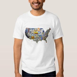 Mapa de la placa de Estados Unidos Playeras