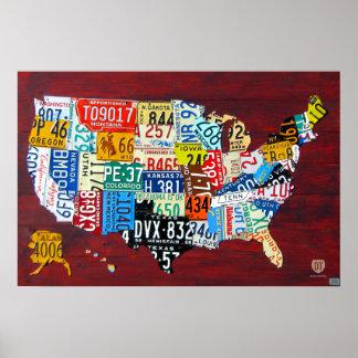 Mapa de la placa del poster 2011 de la edición 3 d