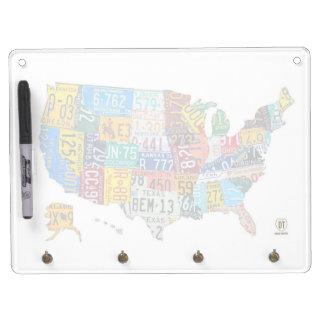 Mapa de la placa del tablero de Estados Unidos Pizarra