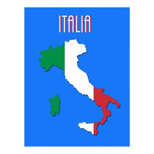 Mapa de la postal de Italia
