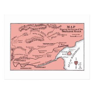 Mapa de la postal del río de Truelove