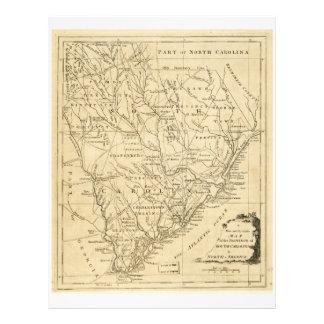 Mapa de la provincia de Carolina del Sur (1779) Membrete A Diseño