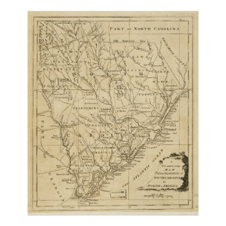 Mapa de la provincia de Carolina del Sur (1779) Póster