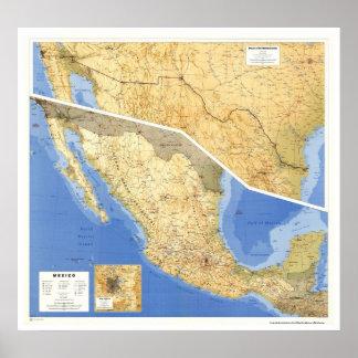 Mapa de la referencia de México - 1993 Poster