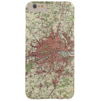 Mapa de la región de Londres Funda De iPhone 6 Plus Barely There