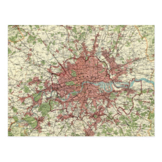 Mapa de la región de Londres Tarjeta Postal