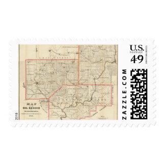 Mapa de la región del aceite de Pennsylvania Envio
