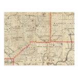 Mapa de la región del aceite de Pennsylvania Postal