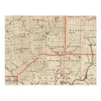 Mapa de la región del aceite de Pennsylvania Tarjetas Postales