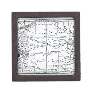 Mapa de la región del oro, publicado en 'el Weekly Cajas De Joyas De Calidad