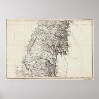 Mapa de la República de Chile 6 Póster
