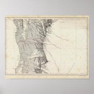 Mapa de la República de Chile 7 Póster