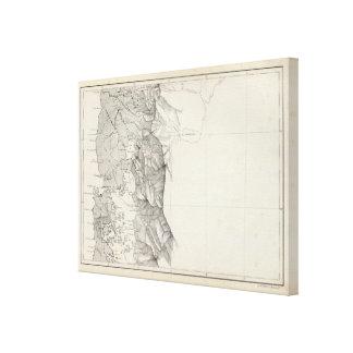 Mapa de la República de Chile 8 Impresión En Lienzo Estirada