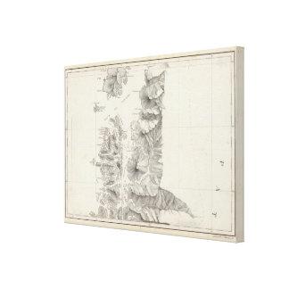 Mapa de la República de Chile 9 Lienzo Envuelto Para Galerias