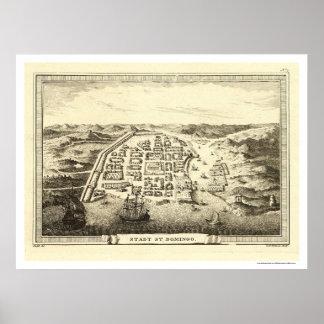 Mapa de la República Dominicana de C.F. Fritzsch 1 Póster