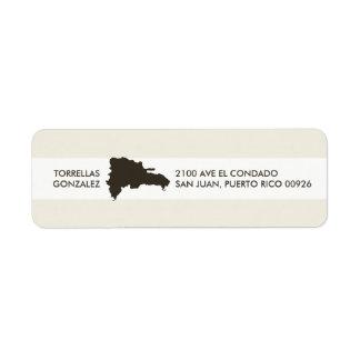 Mapa de la República Dominicana: Diseño Etiqueta De Remitente