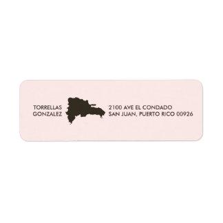 Mapa de la República Dominicana: Personalizado: Etiqueta De Remitente