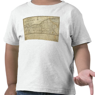 Mapa de la reserva occidental camisetas