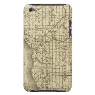 Mapa de la reserva occidental iPod touch Case-Mate funda