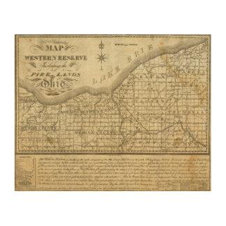 Mapa de la reserva occidental cuadro de madera