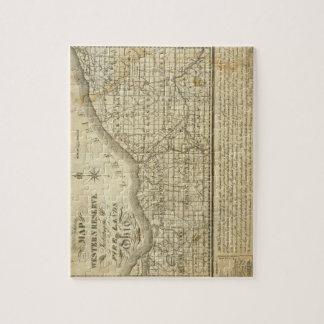 Mapa de la reserva occidental puzzle con fotos