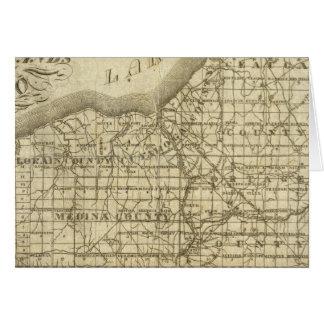 Mapa de la reserva occidental tarjeta de felicitación