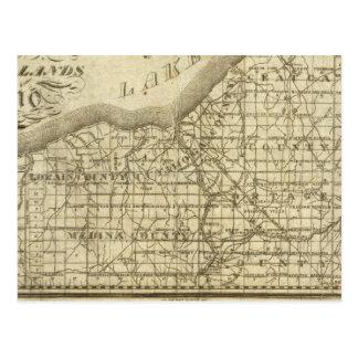 Mapa de la reserva occidental tarjeta postal
